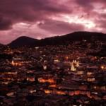 Quito view at night Ecuador