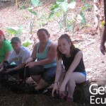 Group Volunteers Taking a Break Ecuador