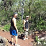 Volunteers Walking Galapagos