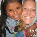 American Volunteer Smiling with Ecuadorian Kid