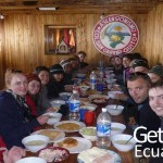 Voluntaries Having Lunch Ecuador